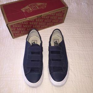 Vans Shoes | Navy Velcro Vans | Poshmark